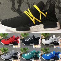 Wholesale Human Trainer - TOP quality Pharrell Williams X NMD Human Race Running Shoes NMD Runner NMD men and women Trainers sports Sneakers Boost Size 36-45