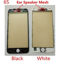 Wholesale Iphone Grill - 100% Original Quality for iPhone 5 5C 5S 6 6S 7 Plus Coldpressed Glass Lens Bonded With Frame Bezel & Ear Speaker Mesh Grill (106IP)