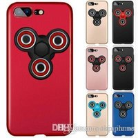 Wholesale Iphone Holiday Case - Triangle Gyro EDC fidget hand spinner Phone case for iphone 7 6s 6 7plus plus Matte Frosted finger handspinner Hard PC Cover