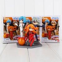 Wholesale Evangelion Pvc - 11cm Neon Genesis Evangelion PVC Action Figure Collectable Model Toy for kids gift 3pcs lot free shipping retail