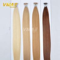 Wholesale I Tip Indian Virgin Hair - I Tip Human Hair Extensions 1g strand 100g pack Brazilian Virgin Hair Natural Straight Keratin Stick Tip Virgin Remy Hair Extensions
