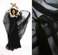 Wholesale Pure Silk Fabric Material - Top quality 100% pure silk chiffon fabric material black 6mm by the meter 1 yard 3 inches)yppc black 140cm width for dress or lining
