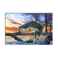 Wholesale modern art fish paintings - Modern Classical Seascape Fantasy Fish Wall Art Picture Home Decoration Painting Custom Canvas Prints Picture from Digital Photo for Home