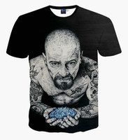 Wholesale Tattoo Sleeves Shirt Sale - Wholesale- Hot Sale Tops Tees Short Sleeves T shirt Men O-Neck Black With Whole Body Tattoo Old Man Printed Hip Hop T-shirt Breaking Bad