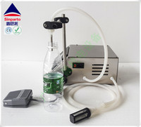 Wholesale Bottle Water Pumps - water juice filling machine Vinegar soy milk filler edible oil packer bottle filler with diaphragm pump model GZL-50