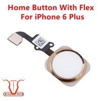 For Apple iPhone black gold parts - Home Button Ribbon Flex Cable Silver Gold Black Complete Assembly Spare Part Replacement For iPhone Plus Inch