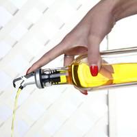 Wholesale Plastic Wine Cork Stoppers - Olive Oil Sprayer Liquor Dispenser Wine Cork Pourers Spout Flip Top Beer Bottle Cap Stopper Tap Faucet Bar Tools OOA1994
