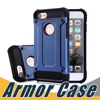 Wholesale Top Note Cases - Top Quality Armor Case Hybrid Armor Cover For iPhone X 8 7 6 6S Plus 5 5S SE Sumsung S8 S7 Plus Edge Note 8