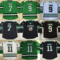 Fighting Sioux Jersey Hombres en blanco 7 TJ Oshie 9 Jonathan Toews 11 Zach Parise Fighting Sioux DAKOTA College Jerseys de hockey Barato S-3XL