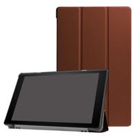 amazon folio großhandel-30pcs Tri-Fold Ultra Slim PU Ledertasche für Kindle neue Feuer HD10 HD 10 2017 10,1 Zoll Tablet Fällen