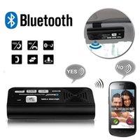 Wholesale Bluetooth Multipoint Speakerphone Car Kit - Wholesale-Wireless Bluetooth Car Kit Speaker Speakerphone Handsfree for iPhone Samsung Sun Visor Clip Multipoint Speakerphones