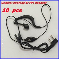 10pcs Microphone TK Radio Walkie Talkie Headset pour quansheng Kenwood CB Baofeng UV5R UV-82 Accessoires Casques Microfone