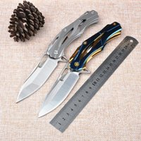 Wholesale Best D2 Folding Knife - Best Price! New 2016 Medford D2 Blade TC4 Titanium Alloy Handle Outdoor Tactical Transformers Folding Knife Medford folding knife