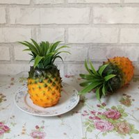 Wholesale Artificial Pineapple Fruit - Simulation of Artificial Foam Pineapple Fruits Crafts for Home Living Room Decoration Hotel Coffee Table Furnishings Free Shipping