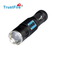 Wholesale Focus Beam Flashlight - Zoom LED Flashlight High Power Super Bright Rechargeable LED Emergency Light Motor Driving Flashlight beam Focus Handy Portable Flash Light