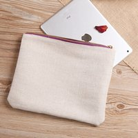 Wholesale Shipping Small Envelopes Wholesale - Free shipping Promotional Blank Cotton Clutch Beauty Cosmetic Bag Wholesale storage cosmetic bag custom high quality clutch bag