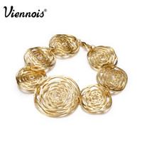 dhgate золотые цепочки оптовых-Dhgate золотой цвет выдалбливают круг цепи браслет Браслет для женщин Леди круглый браслеты аксессуары