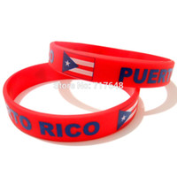 Wholesale Rubber Express - Wholesale- 300pcs a lot Puerto Rico wristband silicone bracelets rubber cuff wrist band bangle free shipping by FEDEX express