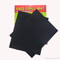 Barbecue Pad square cooking pan - Square Black Grilll Mat Non Stick Teflon Outdoor BBQ Pads Resuable Easy To Clean High Temperature Resistant Mats xz R