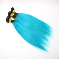 ingrosso i capelli brasiliani di qualità si intrecciano-I peli umani di 1b #blue di alta qualità impacchettano le estensioni diritte malesi dei capelli del brasiliano peruviano indiano non trattato di 10-26 pollici