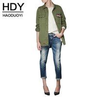 Wholesale navy green short trench turn down collar Outwears diamond women Coats for