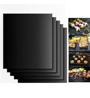 Wholesale Bbq Grill Supplies - BBQ Grill Mat Non-Stick Reusable BBQ tools Cooking Baking Microwave Mats Resuable Barbecue Sheet Pad Heat Resistance barbecue supplies