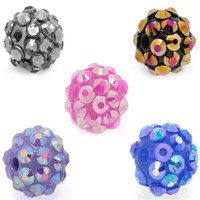 Wholesale Disco Ball Resin - Acrylic Resin Rhinestone Disco Ball Plastic Beads for DIY Jewelry 8mm 10mm 12mm 14mm 16mm 18mm 20mm 22mm