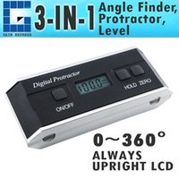Wholesale Inclinometer Tilt Sensor - AG-82201B Handheld 3-in-1 Digital Protractor Angle Finder Inclinometer 360 degree with Angle Sensor Technology Tilt + Magnetic V-Groove