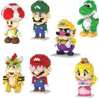 Wholesale Cartoon Mario - HC Magic mario DIY Mini Building Nano luigi blocks children pricness toys,special little man cartoon roel,cute,Stewart #5001-5007