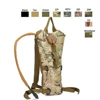Outdoor Sports Assault Combat Camuflagem Molle Bag Sacola Tactical Molle Pouch 2.5 / 3L Hydration Pack SO11-604