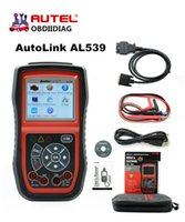 Wholesale German Internet - Autel AutoLink AL539 OBD2   CAN Scan Tool Car Diagnostic Tools OBD 2 Scanner Internet Update Multilingual Menu Free Shipping