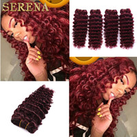 Red Hair Extensions 99j Deep Curly Virgin cheveux 4pc Brésilien Péruvien Malaysian Indien Wholesale Brazilian Human Hair Weave Bundles