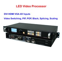 Wholesale Led Display Show - DVI HDMI VGA AV 6 Input LED Video Processor HD Video Switcher for LED Display of show, stage