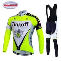 Wholesale Mens Cycling Jersey Sets - 2017 New Tinkoff Team Men's Cycling Jersey Set  Winter Thermal Fleece Bicycle Clothing Mens Bicycle Clothing Bike Clothes, Gel Pad .