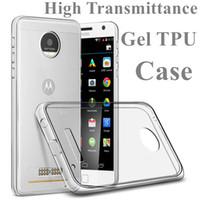 Wholesale E3 Tpu - Clear Case For MOTO G G5 G4 Plus Play Z X 2017 M E3 Clear Gel TPU Case High Transparent Soft TPU Cover