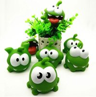 Wholesale Candies Sound - Rope Frog Vinyl Rubber Android Games Doll Cut The Rope OM NOM Candy Gulping Monster Toy Figure with Sound