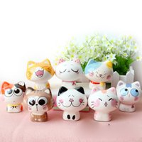 Wholesale Wholesale Ceramic Figurines - Lucky Cat Ceramic Crafts Home Decor Ornaments Porcelain Animal Figurines Wholesale Gifts