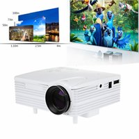 Wholesale Mini Home Theater System - Wholesale-2016 Genuine Shelves Soon Full HD Home Theater Cinema H80 LCD Image System 80 Lumens Mini LED Projector with AV VGA SD USB HDMI