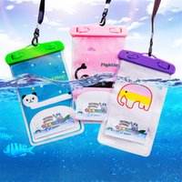 bag lg NZ - Cute Cartoon Waterproof Bags Phone Case Animal Universal Outdoor Underwater Swim Dry Pouch for iPhone 8 7 Samsung Galaxy Note8