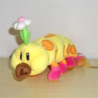 "Wholesale Mario Bros Wiggler Toy - Hot New 11"" 28CM Wiggler Plush Doll Super Mario Bros Anime Collectible Plush Dolls Stuffed Best Gifts Soft Toys"