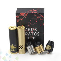 Single black zeus - Newest Zeus Kratos Starter Kit Stainless Steel Black Gold Colors Fit Battery MM Diameter Electronic Cigarette DHL Free