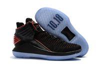Wholesale Corsa Black - Free Shipping Retro 32 XXX2 MJ Day Banned Rosso Corsa Triple Black Mens Basketball Shoes