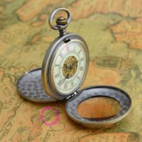 Wholesale Mechanical Old Pocket Watches - Wholesale-Coupon for wholesale price good quality old retro antique man reading magnifying glass mechanical pocket watch necklace hour