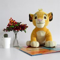 Wholesale Lion King Baby - 2016 New Movie Cartoon Plush Toys The Lion King Figures Simba Soft Stuffed Doll Kids Baby Children Kawaii Gift 26cm