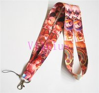 Wholesale Kingdom Hearts Free - Free shipping 30pcs Cartoon Kingdom Hearts Neck Lanyard Multicolor Phone Accessories Cell Phone Camera Neck Straps Lanyard Gifts