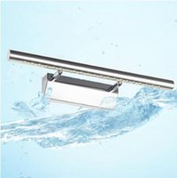 Wholesale Toilet Mirror Light - Modern Stainless Steel LED Front Mirror Light Bathroom Makeup Wall Lamps LED Vanity Toilet Wall Mounted Sconces Lighting CCA8116 30pcs