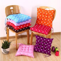 Wholesale Indoor Seat Cushions - 40*40cm Indoor Outdoor Garden Solid Cushion Pillow Patio Home Kitchen Office Car Sofa Chair Seat Soft Cushion Pad CCA6775 200pcs