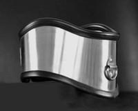 ingrosso giochi bdsm maschili-Di lusso in acciaio inox gel di silice collare collo collare di metallo postura anello del collo bondage adulto prodotto bdsm giochi del sesso giocattolo per maschio femmina