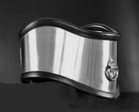 erkek bdsm oyunları toptan satış-Lüks Paslanmaz Çelik Silika jel Necklet Yaka Metal Kısıtlama Duruş Boyun Halkası Yetişkin Esaret Bdsm Ürün Erkek Için Seks Oyunları Oyuncak