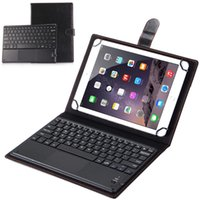 Wholesale 9.6 android tablet resale online - Bluetooth Keyboard Leather Case With Touch Panel for Android Windows Ios Tablet PC Case Cover quot Inch Support Systems Universal